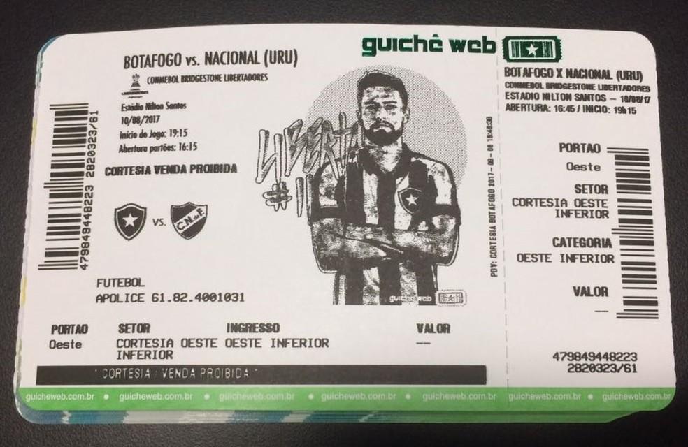 João Paulo é o personagem da vez na arte do ingresso do Botafogo na Libertadores (Foto: Divulgação)