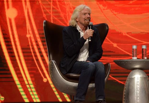 Richard Branson durante o Fórum de Inovação (Foto: Divulgação/Mastercard)