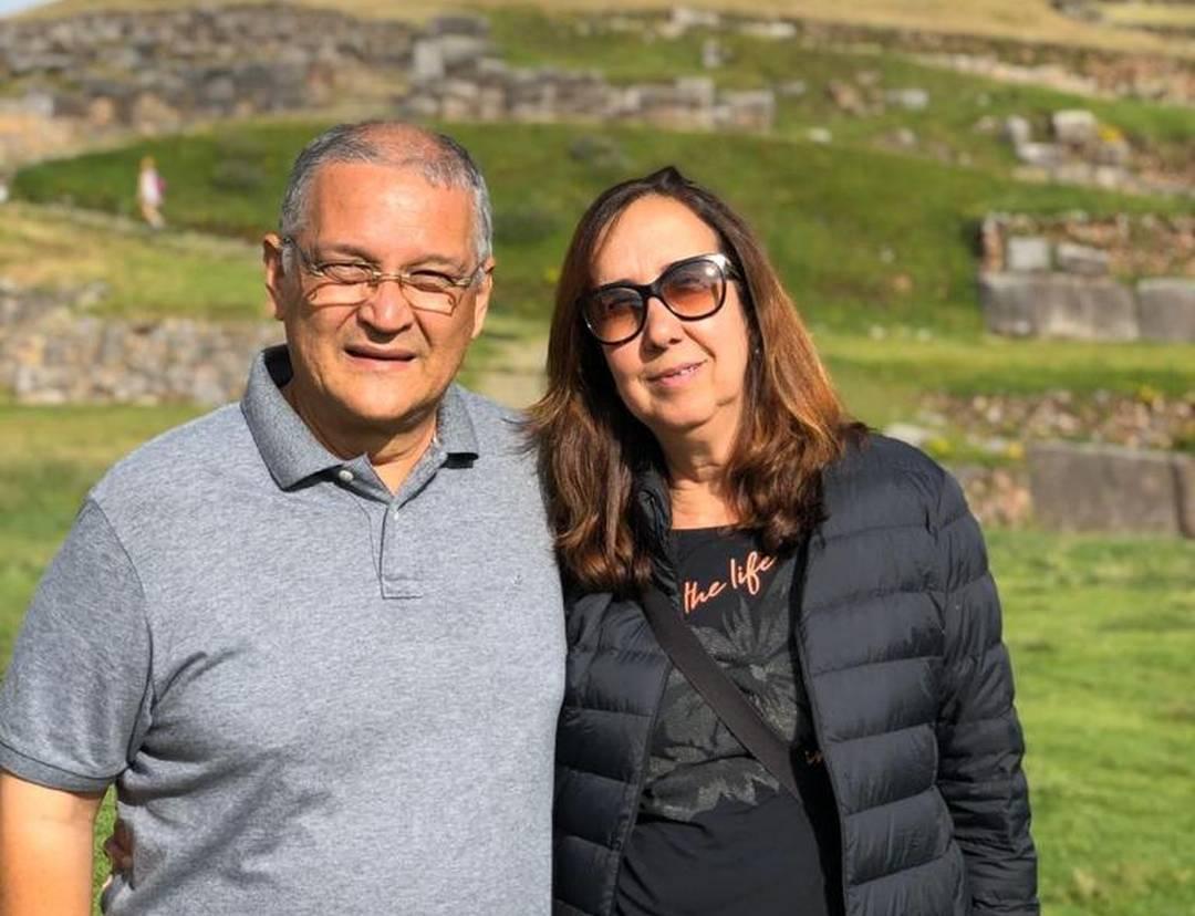 Maria Viviani Nobre e o marido