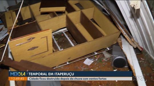 Mais de 400 casas são danificadas com forte chuva que atingiu Itaperuçu e matou dois adolescentes
