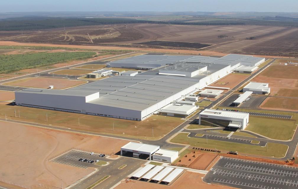 Fábrica da Honda em Itirapina, SP — Foto: Divulgação