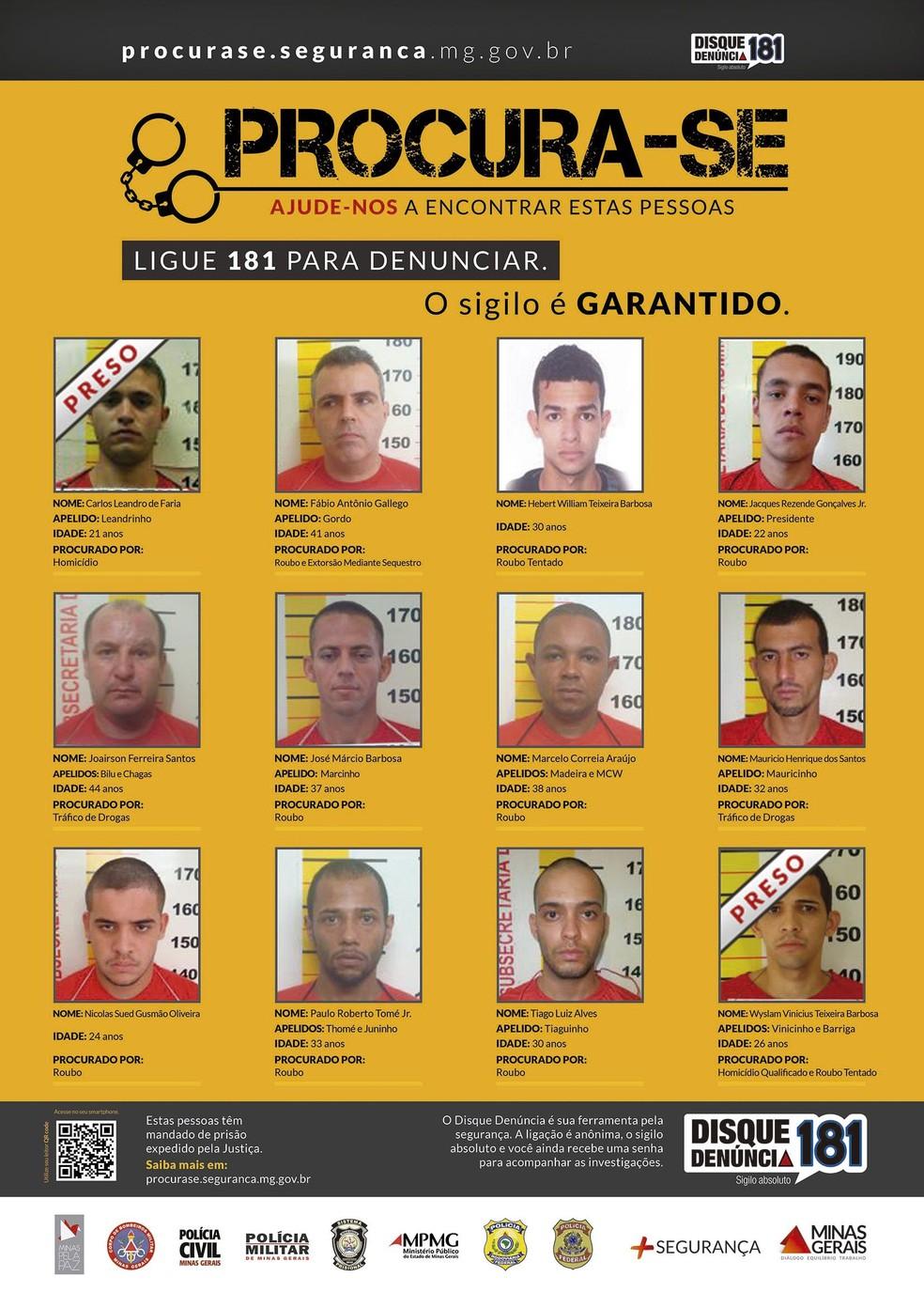 'Procura-se' é um programa do governo que conta com apoio da população para encontrar foragidos (Foto: Divulgação Governo de Minas)