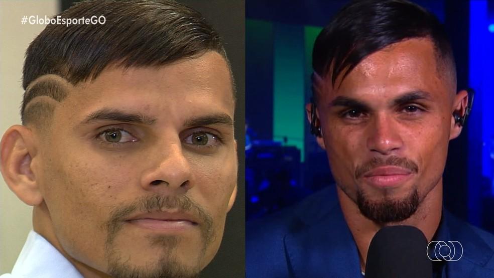 Quem é quem? Sósia se inspira no futebol e no estilo de Michael — Foto: Reprodução/TV Anhanguera