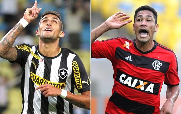 Rafael Marques, Botafogo, e Hernane, do Flamengo (Foto: Reprodução)