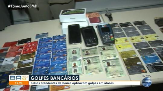 Falsos atendentes de banco que aplicavam golpes em idosos são presos em Salvador