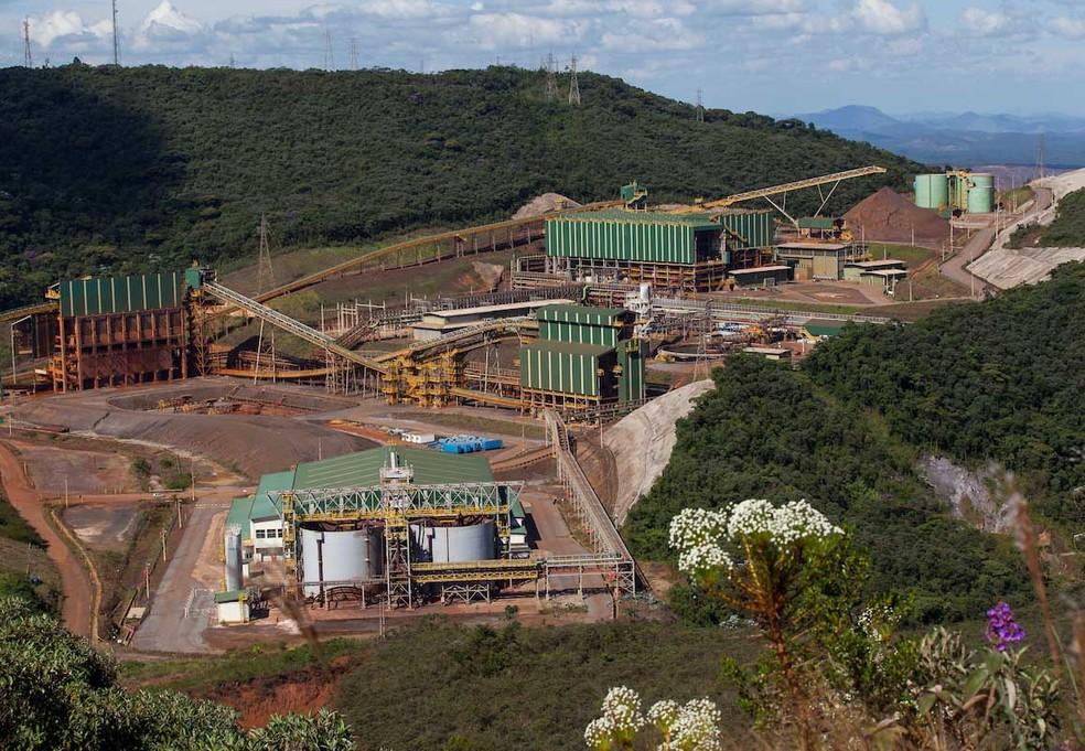 Complexo de Germano em Mariana, na Região Central de Minas Gerais. (Foto: Samarco/Divulgação)