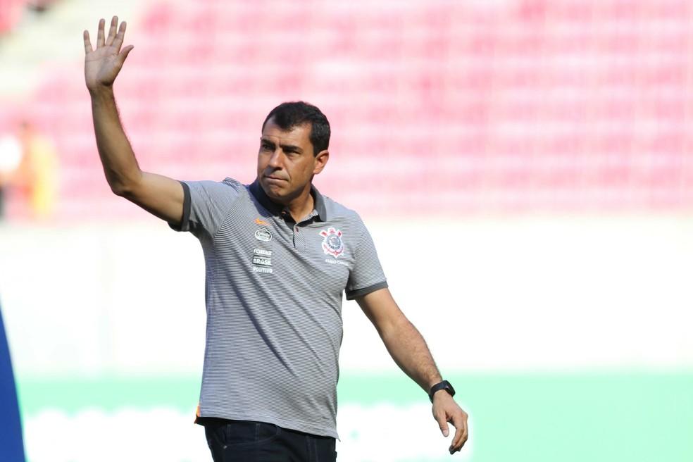 Fábio Carille na partida do Corinthians contra o Sport (Foto: Marlon Costa/Futura Press)