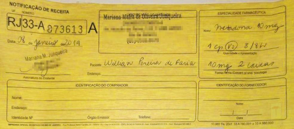 Receita de William Faria enviada por mensagem de Sibele a William Rodela — Foto: Reprodução