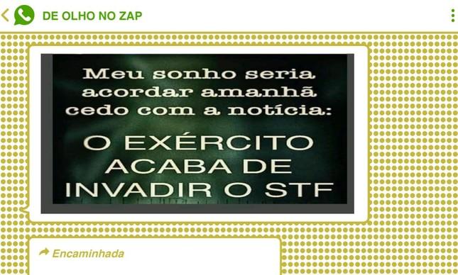 Grupos a favor do Bolsonaro no WhatsApp e Telegram foram tomados por apelos intervencionistas