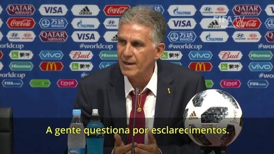 """Técnico do Irã pede expulsão de Cristiano Ronaldo e fim do VAR: """"Não funciona"""""""