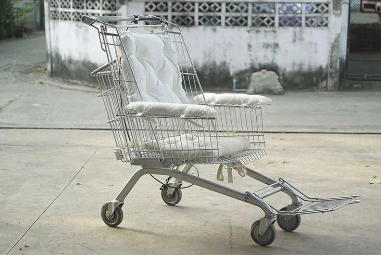 Carrinho de mercado vira cadeira de rodas (Foto: Reprodução instagram)