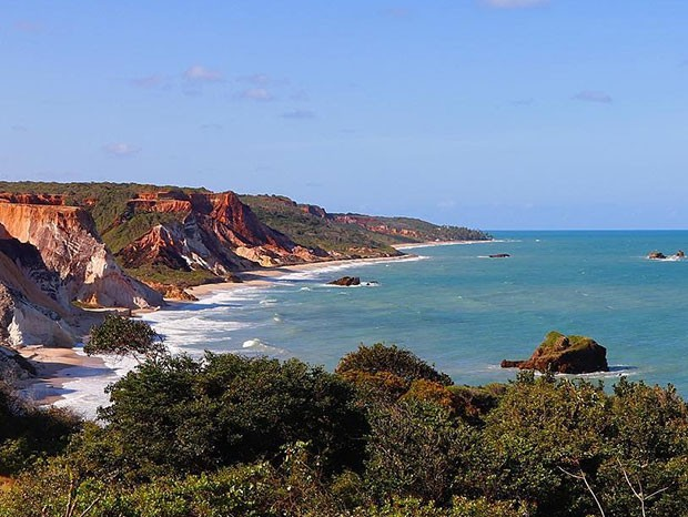 Vista do Mirante de Tambaba, na Paraíba (Foto: Reprodução/Instagram)