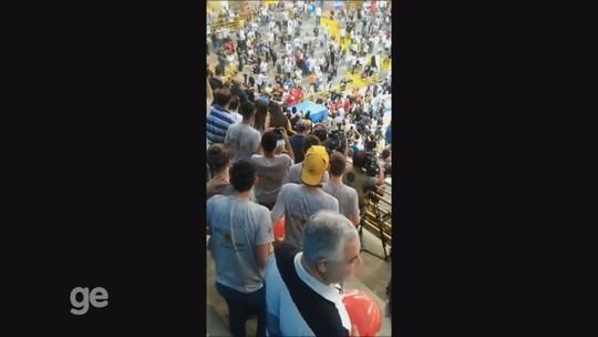 Final entre Franca e Flamengo no NBB é marcada por confusão com torcedores no Pedrocão; vídeo