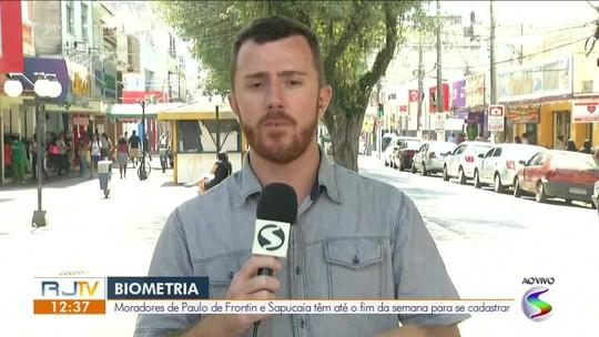 Cadastramento da biometria chega à última semana em Paulo de Frontin e Sapucaia