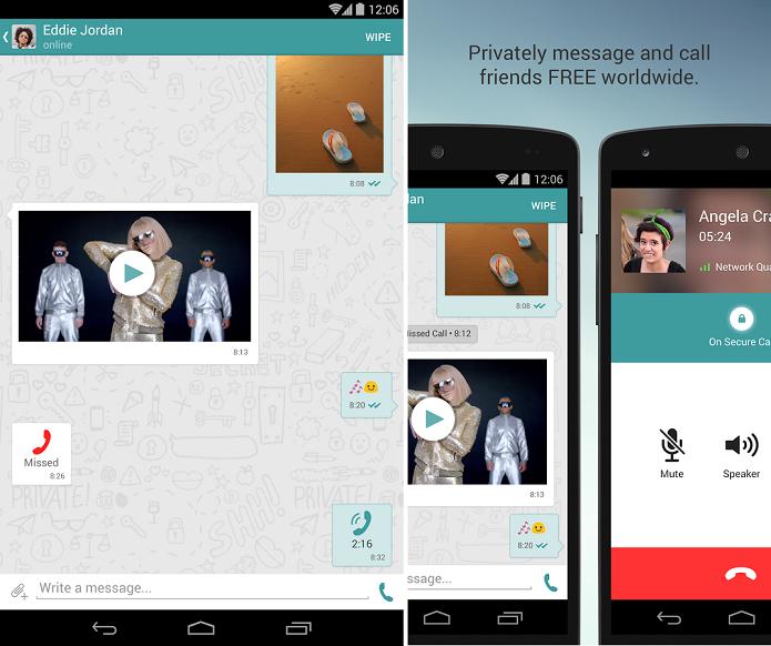 Wiper é um app para ligar e mandar mensagens gratuitamente (Foto: Divulgação/Wiper)
