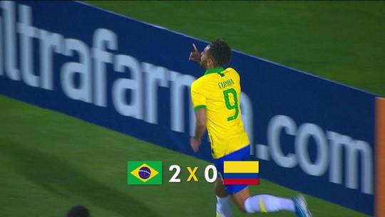 Brasil vence a Colômbia por 2 a 0 em amistoso da seleção sub-23