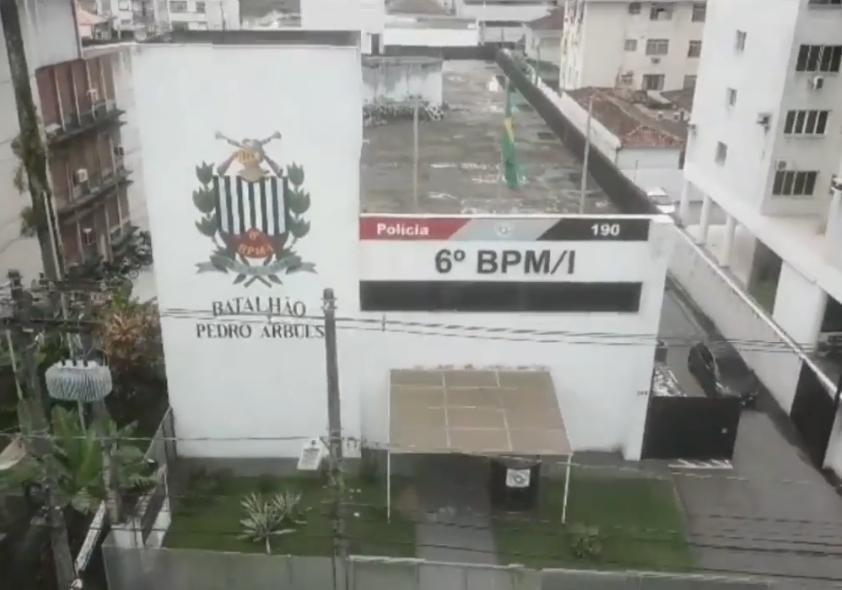 Homem é preso por furtar fiação em frente a Batalhão da PM em Santos
