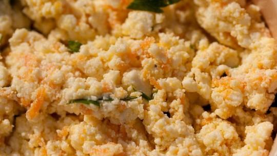 Como fazer pasta de ricota com cenoura