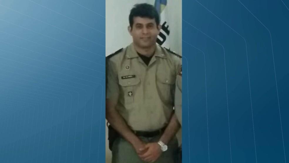 Tenente Erivaldo Moneta foi baleado na cabeça na madurgada da segunda-feira (10) — Foto: TV Cabo Branco/Reprodução