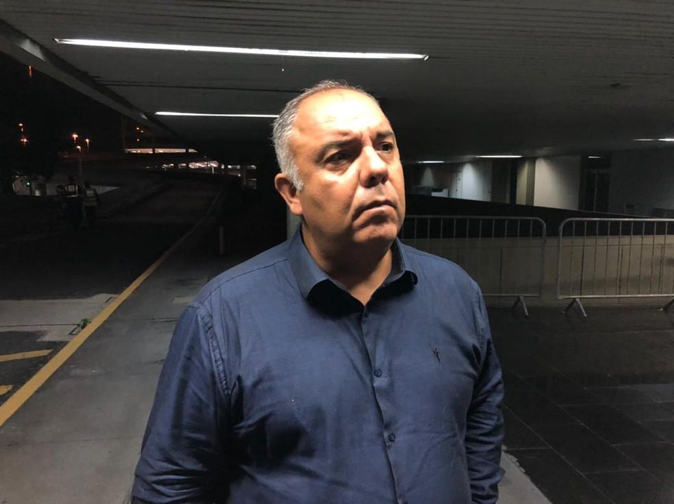 Dirigente amenizou atritos na Gávea — Foto: Caíque Andrade/ge