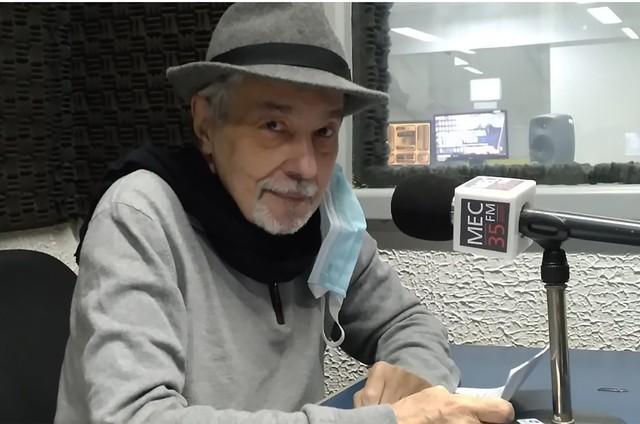 Pedro Paulo Rangel grava podcast (Foto: Divulgação)