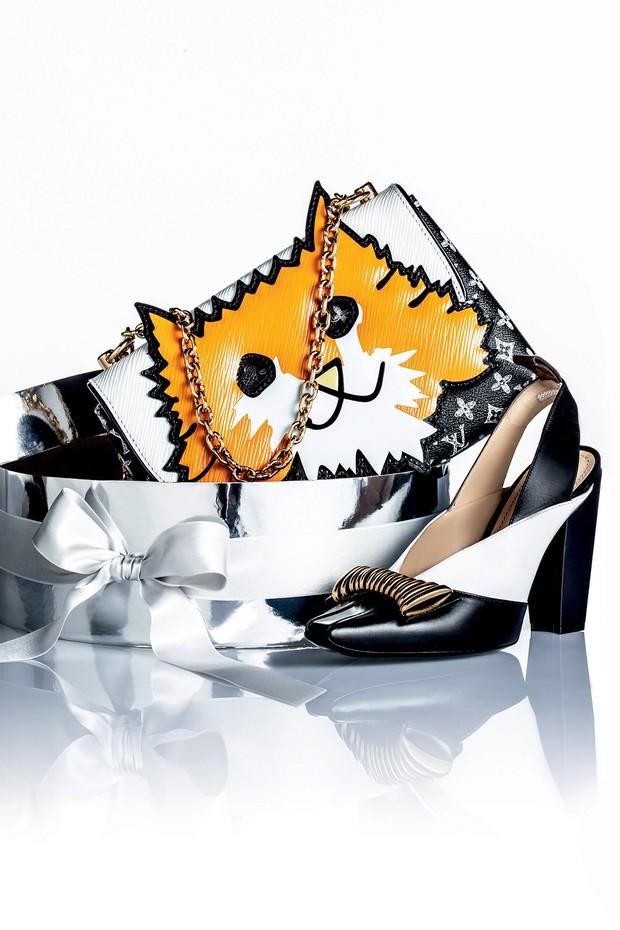 Louis Vuitton R$ 5.150 (sapato) e R$ 11 mil (bolsa) (Foto: Carlos Bessa)