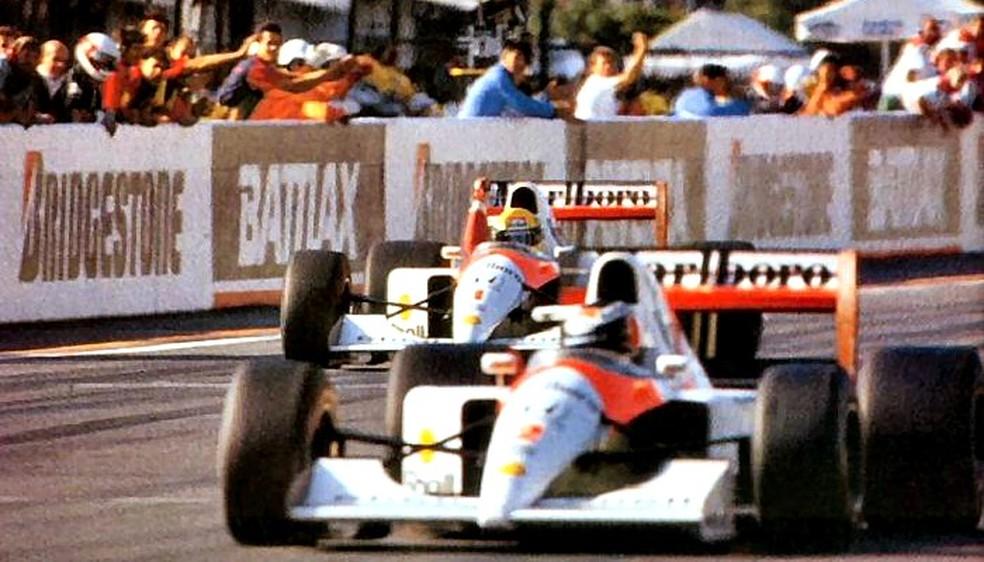 Ayrton Senna campeão Fórmula 1 1991 — Foto: Reprodução