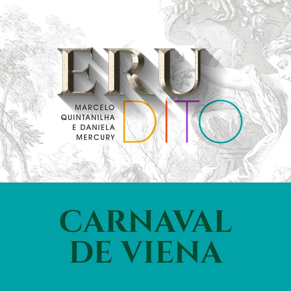 Capa do single 'Carnaval de Viena', de Marcelo Quintanilha com Daniela Mercury — Foto: Divulgação