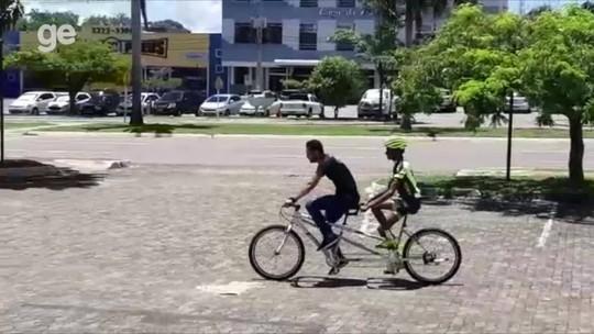 Projeto leva pedal para a inclusão de deficientes visuais em Palmas; veja vídeo