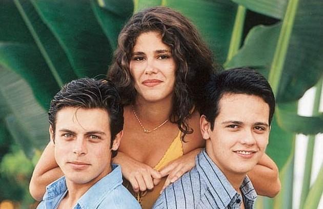Juliana Didone protagonizou a primeira temporada de 'Malhação', em 1995, com Luigi Baricelli e Danton Mello (Foto: Tv Globo)