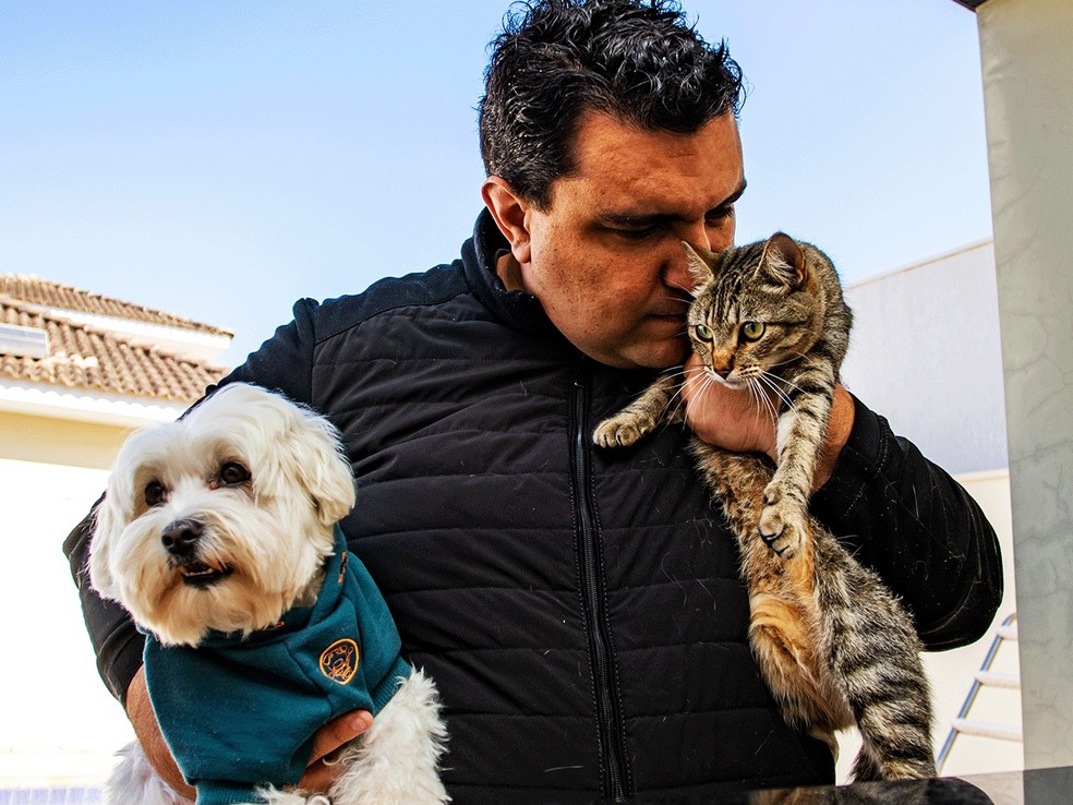 Renan Salinas acredita que os filtros do aplicativo vão promover uma adoção mais consciente e diminuir a taxa de reabandono de pets — Foto:  Social Bauru / Divulgação