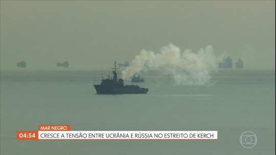 Cresce a tensão entre Ucrânia e Rússia no estreito de Kerch