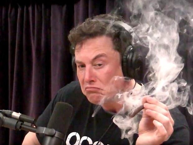 Elon Musk fumando maconha  (Foto: reprodução)