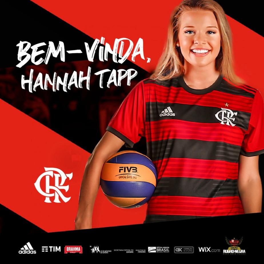 Flamengo anuncia Hannah Tapp, central da seleção americana, para reforçar volta à Superliga