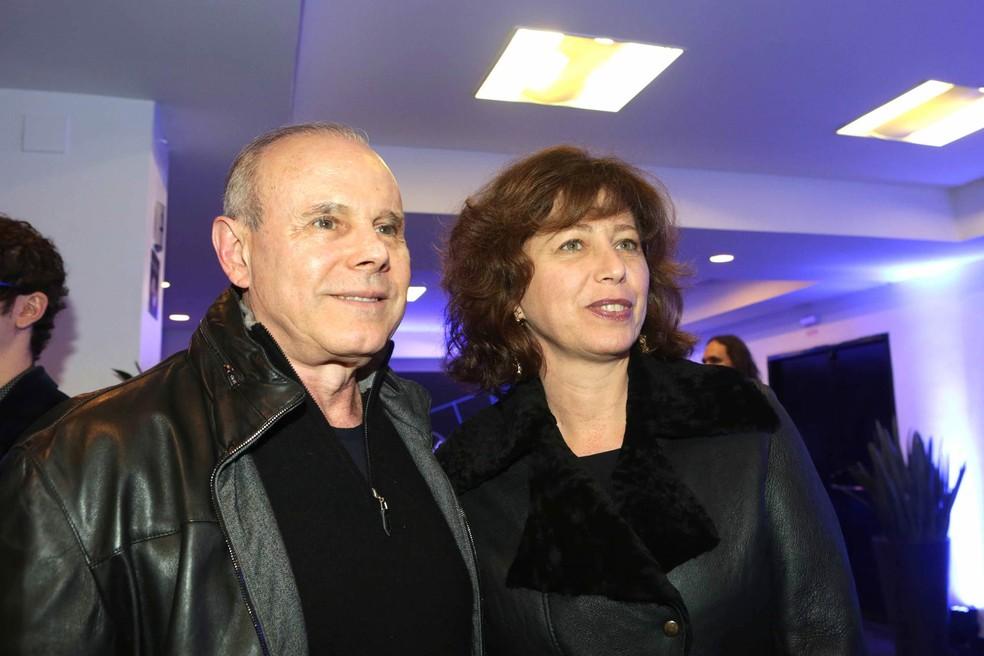Guido Mantega e sua mulher, a psicanalista Eliane Berger, durante festival de jazz em São Paulo em junho de 2014 (Foto: Greg Salibian/Folhapress/Arquivo)