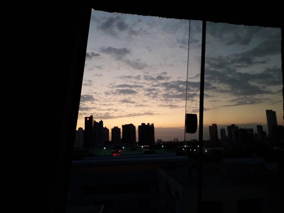 Visão da cidade de dentro de uma dos apartamentos — Foto: Eliana Ribeiro/Arquivo pessoal