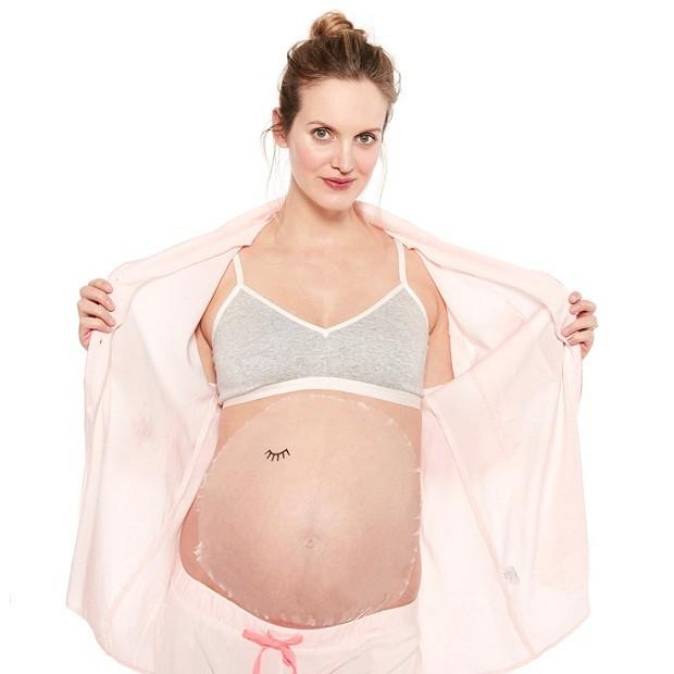 mascara barriga grávida (Foto: Reprodução/Hatch Mama)
