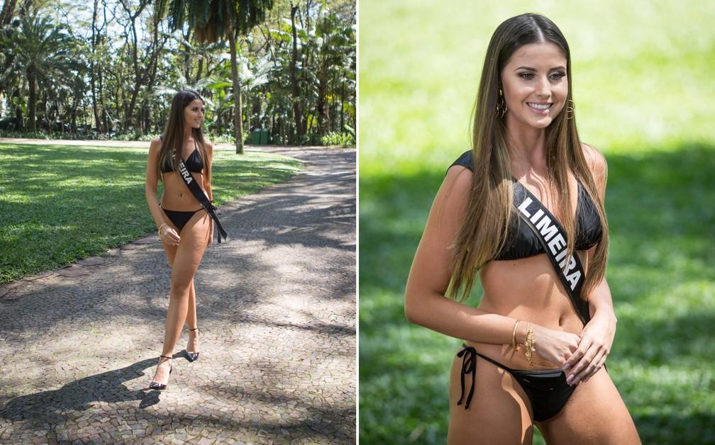 A miss Limeira, Bianca Campos Baumgartner, de 18 anos, é estudante de Administração e modelo — Foto: Fábio Tito/G1