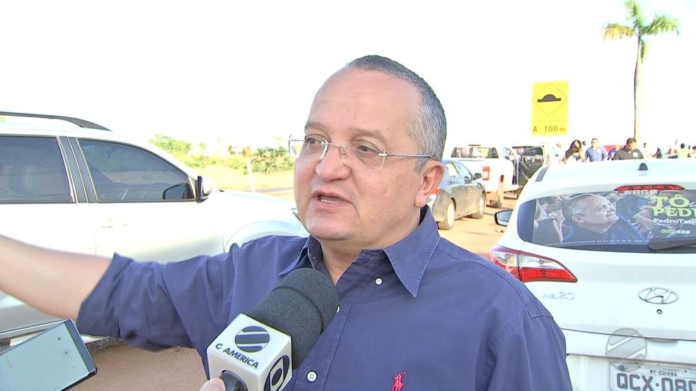 Ex-governador Pedro Taques. — Foto: TVCA/Reprodução