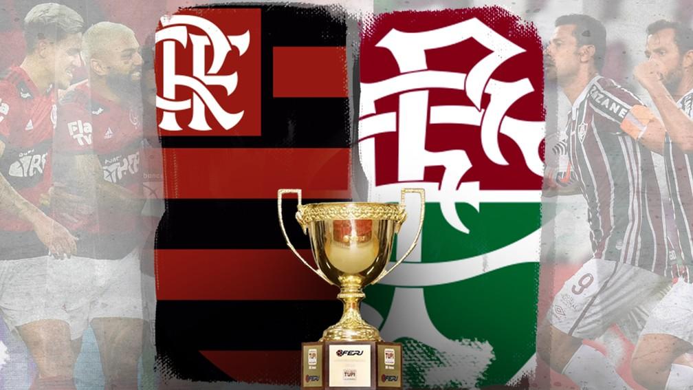 """Flamengo ou Fluminense, quem leva o troféu do """"tira-teima"""" em 2021? — Foto: ge"""