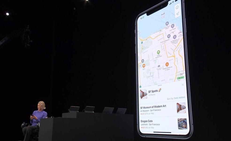 Atualização dos mapas da Apple — Foto: Reprodução