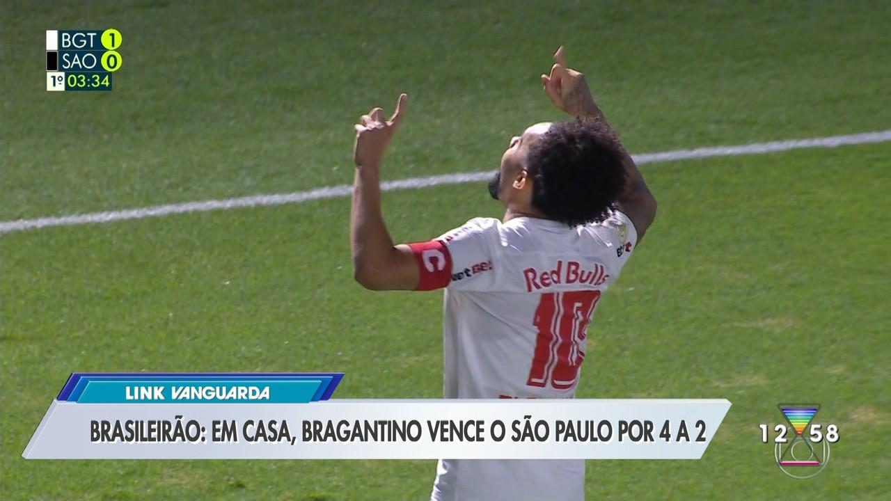 Brasileirão: em casa, Bragantino vence o São Paulo por 4 a 2
