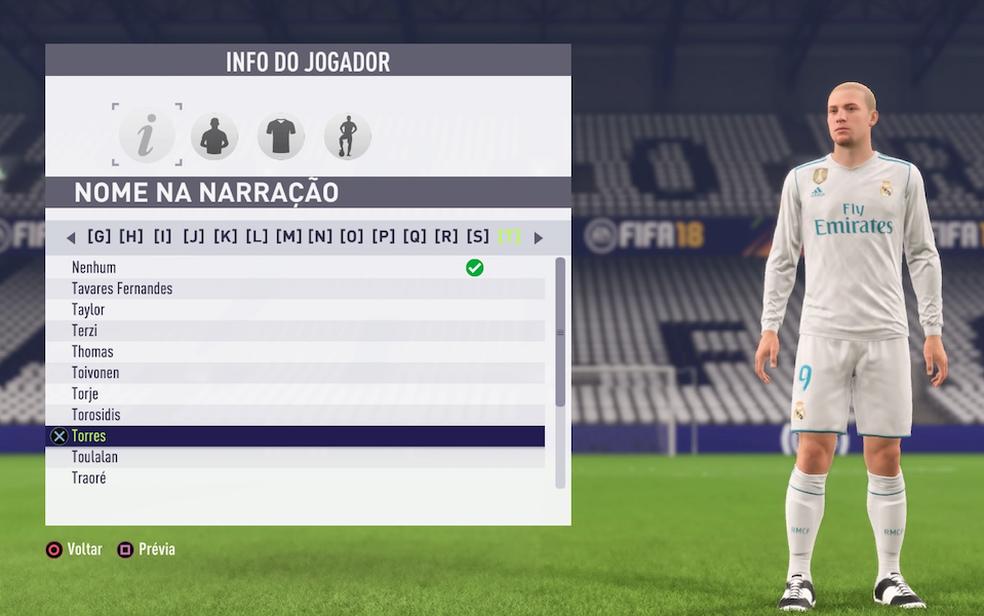 Como criar jogadores em FIFA 18   Jogos de esporte   TechTudo Felipe Fifa 18
