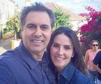 Lisandra e Gustavo na viagem que fizeram para Portugal | Reprodução