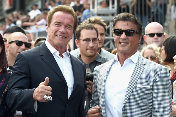 Arnold Schwarzenegger e Sylvester Stallone (Foto: Getty Images)