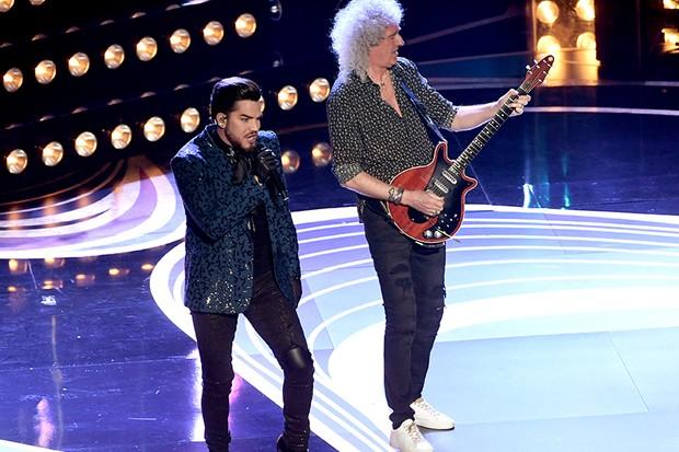 Performance em homonagem ao QUEEN com Adam Lambert como convidado (Foto: Getty Images)