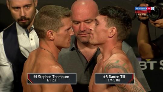 Após luta confirmada, Till pede desculpas na pesagem cerimonial do UFC Liverpool
