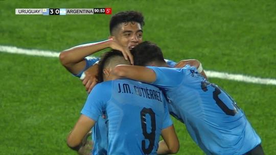 Com frangaço de goleiro, Uruguai vence Argentina na estreia do Sul-Americano Sub-17