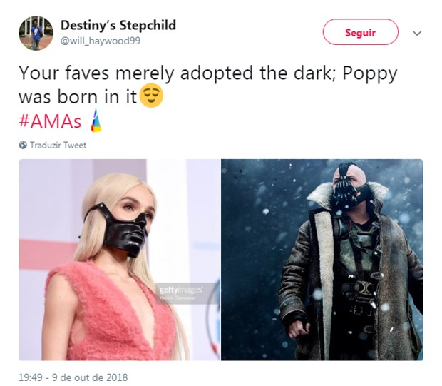 Look de Poppy vira meme (Foto: Reprodução/Twitter)