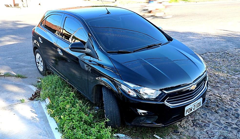 Carro do advogado apreendido em Parnaíba — Foto: Kairo Amaral